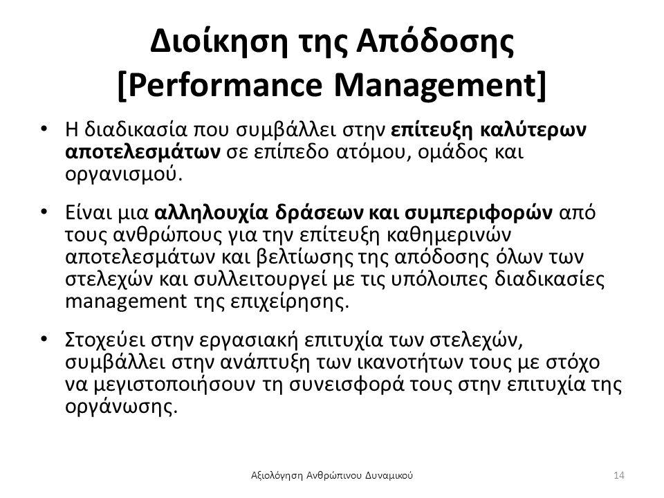 Διοίκηση της Απόδοσης [Performance Management]